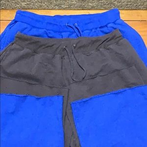 Repair the world size large lot of 2 sweat pants